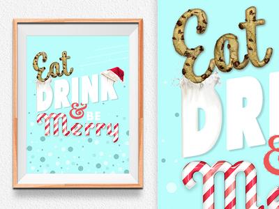 Eat, drink, and be Merry christmasholidayfoodtype