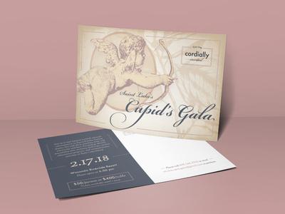 Cupid's Gala invite Postcard