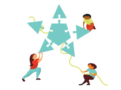 Starpuzzle illustrationteambuilding