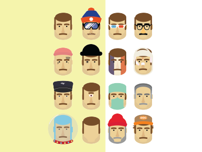 My Face In Different Forms exploration simple illustration geometric face judah