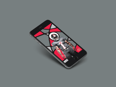 Football Wallpaper color stained glass iphone mockup wallpaper recruiting football