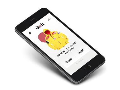 Garb. App ui elements branding uidesign streetwear app concept app digital uxdesign ui.