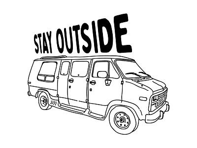 Jean Claude Van Damme linework handmade stretched type car van music band shirt design shirt illustration shirtdesign