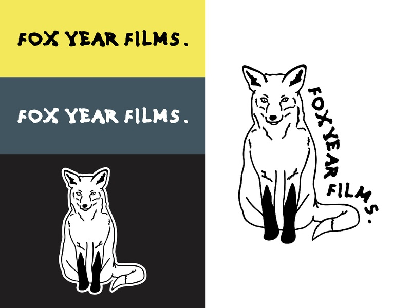 Fox Year Films Logo vector design simple linework videographer art music drawing logotype logo branding and identity branding videography film animals fox illustration