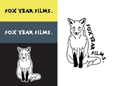 Fox Year Films Logo vector design simple linework videographer art music drawing logotype logo branding and identity branding videography film animals fox illustration