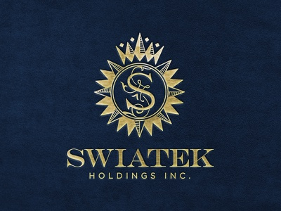 Swiatek Holdings Inc. rich foil gold logo wordmark icon investments holdings money