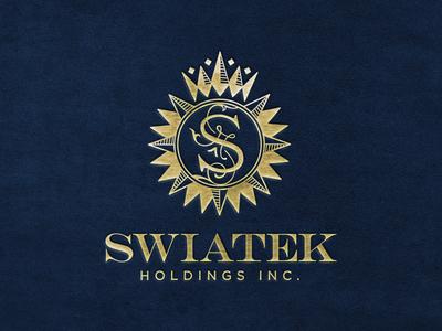 Swiatek Holdings Inc. rich foil gold logo wordmark icon investments holdings money