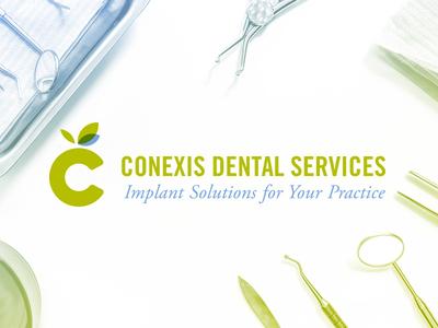 Conexis Dental Services c leafs education implants icon logo dental apple
