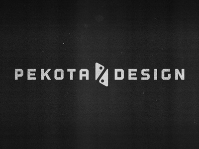 Pekota Design texture rustic furniture retail symbol wordmark logo icon