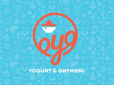 OYO restaurant logo fun canadian dairy oatmeal yogurt