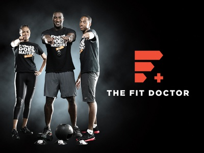 The Fit Doctor workout training fitness exercise chart icon health doctor fit