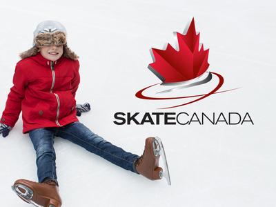 Skate Canada icon logo winter ice leaf maple canadian canada skating