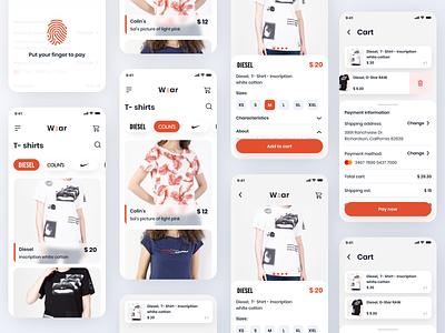 Clothing shop app design popular clothing app fashion shop ecommerce shopping app app design app brand clothing clothes design uidesign uiux ui