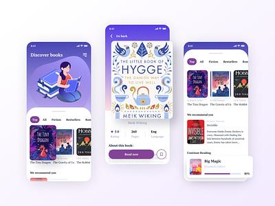 E-Book App ecommerce popular design art illustration mobile reading app reading app concept ebook app design app book ux ui design