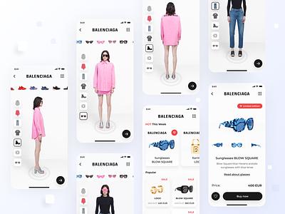 Balenciaga AR App shopping app fashion app shop clothes style popular balenciaga ar ar app ar fashion balenciaga application app design mobile app uidesign design uiux mobile ux ui
