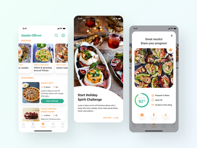 Jamie Oliver Cooking App app design food app food recipe app recipe book recipes recipe cookbook cooking cook application popular ux uiux ui app