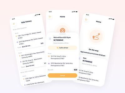 Taxi app app user interface popular cab booking app cab drive taxi booking app taxi app taxi design uiux ui