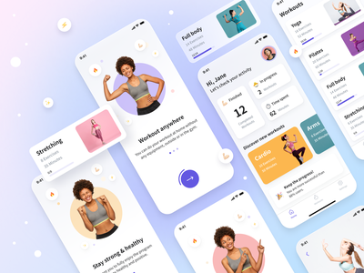 Fitness app workout tracker activity health workout training sport app sport mobile design mobile app mobile application design popular ui design ux uiux ui app fitness app fitness
