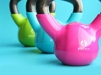 FITMA graphic design fitma gym logo fitness logo usman chaudhery usman app web typography logo design flat vector illustration icon design branding logo