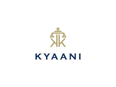 Kyaani kyaani logo k logo law firm law logo usman usman chaudhery web typography logo design flat vector illustration icon design branding logo