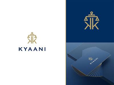 Kyaani kyaani logo k logo law firm logo usman chaudhery usman app web typography logo design flat vector illustration icon design branding logo