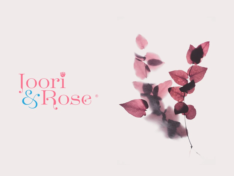 Joori & Rose rose logo rose beauty beauty logo usman chaudhery usman web typography logo design flat vector illustration icon design branding logo