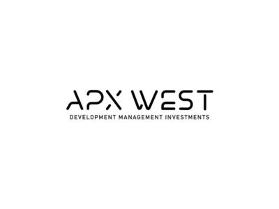 APX West Logo west apx investment managment development usman chaudhery usman web typography logo design flat vector illustration icon design branding logo