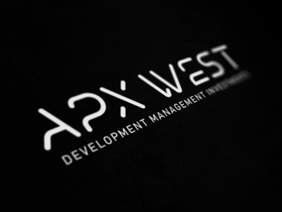 APX West investment managment development usman chaudhery usman web typography logo design flat vector illustration icon design branding logo