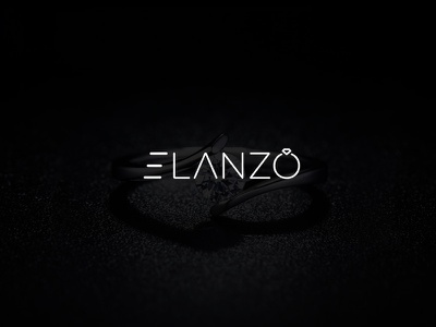 Elanzo jewelery minimal jewellery shop logo ring diamond logo usman chaudhery usman app web typography logo design flat vector illustration icon design branding logo