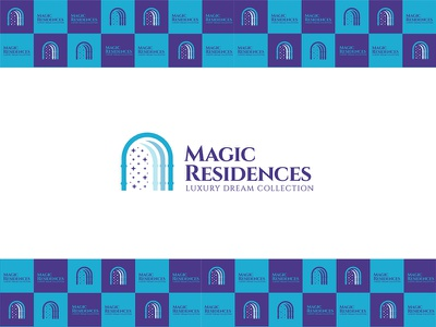 Magic Residences home logo home magic residences magic luxury logo residence property logo usman chaudhery usman typography logo design flat vector illustration icon design branding logo