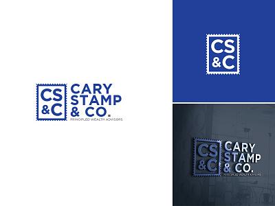 Cary Stamp & Co. cary stamp  co finance wealth usman chaudhery usman app web typography logo design flat vector illustration icon design branding logo