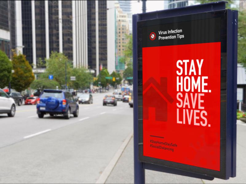 Heath Safety Virus Infection Prevention Tips Poster Series advertising public transit psa billboard poster icon graphic art design vector illustration