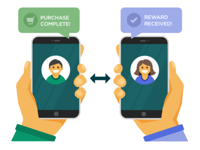 Referral Transaction Illustration vector iphone illustration