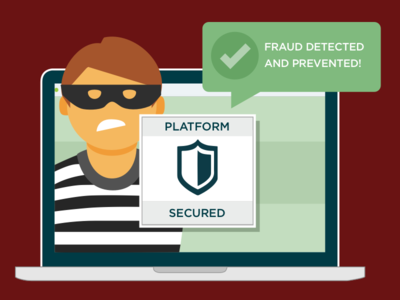 Fraud Detected and Prevented Illustration software sketch illustration
