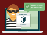 Fraud Detected and Prevented Illustration