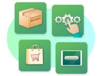 Product Key Target Markets Illustration Set