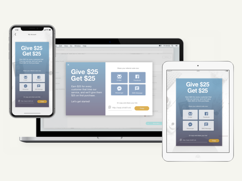 Responsive Desktop Mobile and Tablet Share Widget Versions dashboard ui iphone x illustration sketch vector ui social buttons share button widget user interface