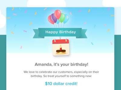 Birthday Anniversay Email Design email design commerical art visual design marketing logo icon graphic branding ui art user interface design vector sketch illustration