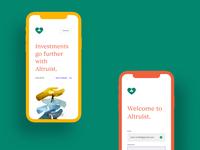 Altruist v1 - Website iPhone Mockups