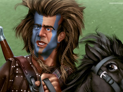 But they'll never take...  OUR FREEDOM!  braveheart sword horse movie scene england scotland epic