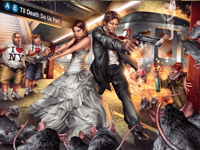 Subway Avengers subway avengers wedding invite