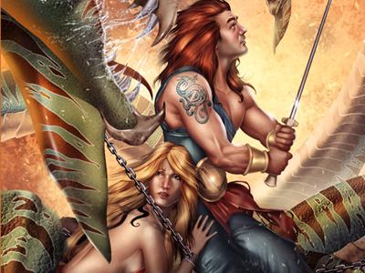 Highlander monster lady warrior sword