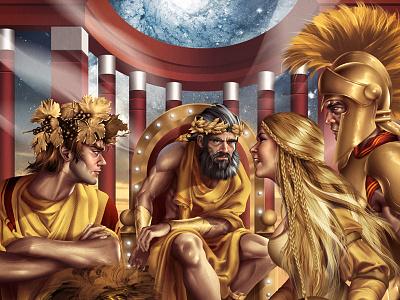 The Gods Consilium lusíadas gods venus ares bacus apolo hermes greek olympus