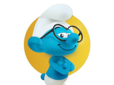The Smurf Adobe XD illustration