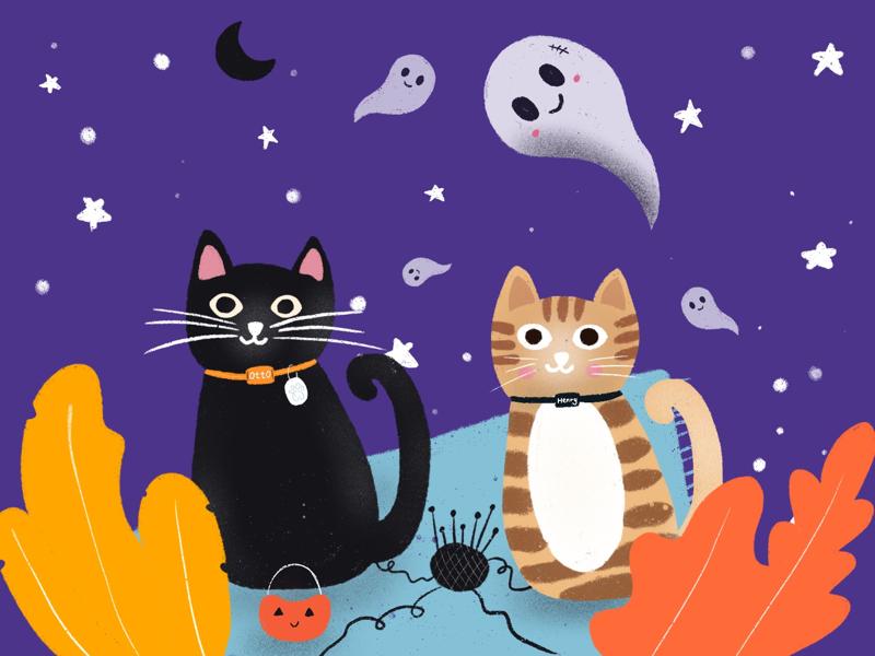 Cats Halloween 👻 halloween cats procreate illustration