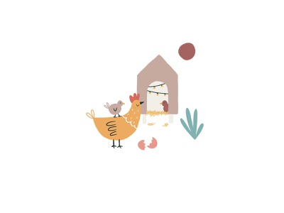 Peachtober 11: Egg farm chickens chicken chicks egg