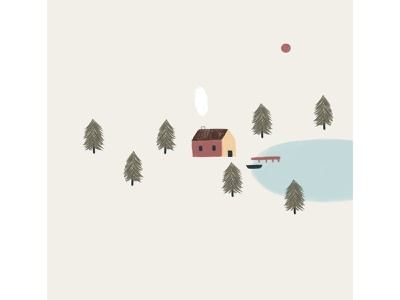 Peachtober 19: Cool nordic trees canoe lake forest house scandinavian cozy woods cabin
