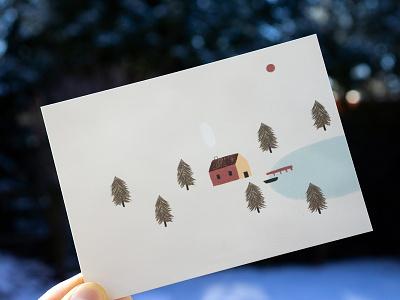 Nordic Postcard illustration nordic postcard
