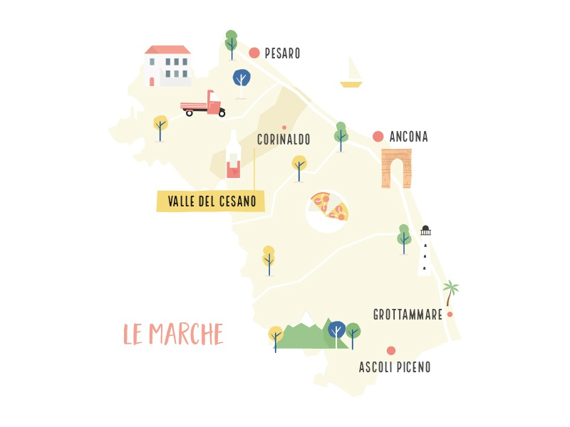 Wip Map Of Le Marche Italy By Michiel Kloppenburg Dribbble