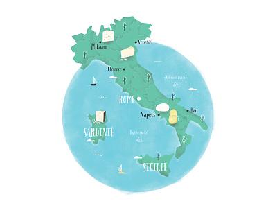 Made in Italy: Cheese sardinia sicily rome scamorza parmigiano reggiano gorgonzola pecorino mozzarella cheese map italia italy